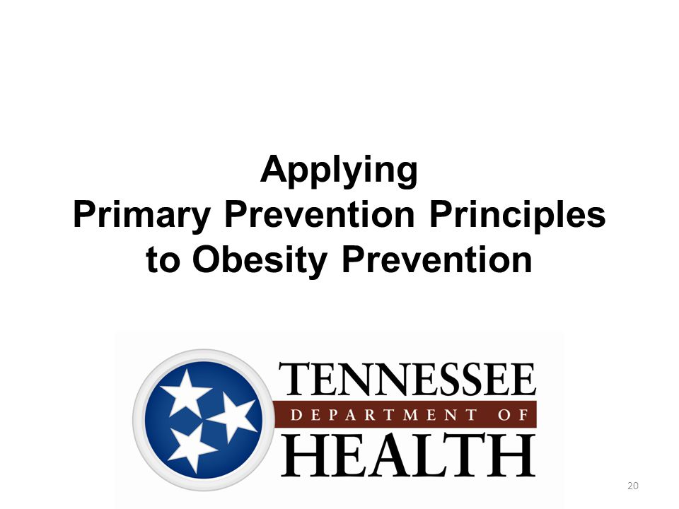 Applying Primary Prevention Principles to Obesity Prevention 20