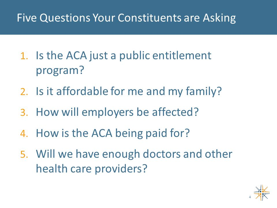 1. Is the ACA just a public entitlement program. 2.