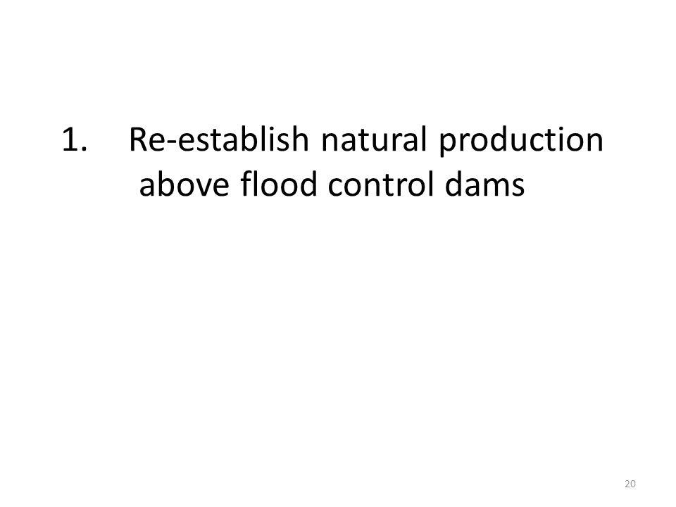 1.Re-establish natural production above flood control dams 20