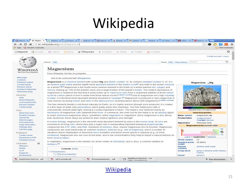 Wikipedia 13 Wikipedia