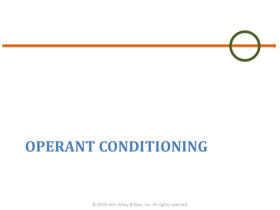OPERANT CONDITIONING © 2014 John Wiley & Sons, Inc. All rights reserved.