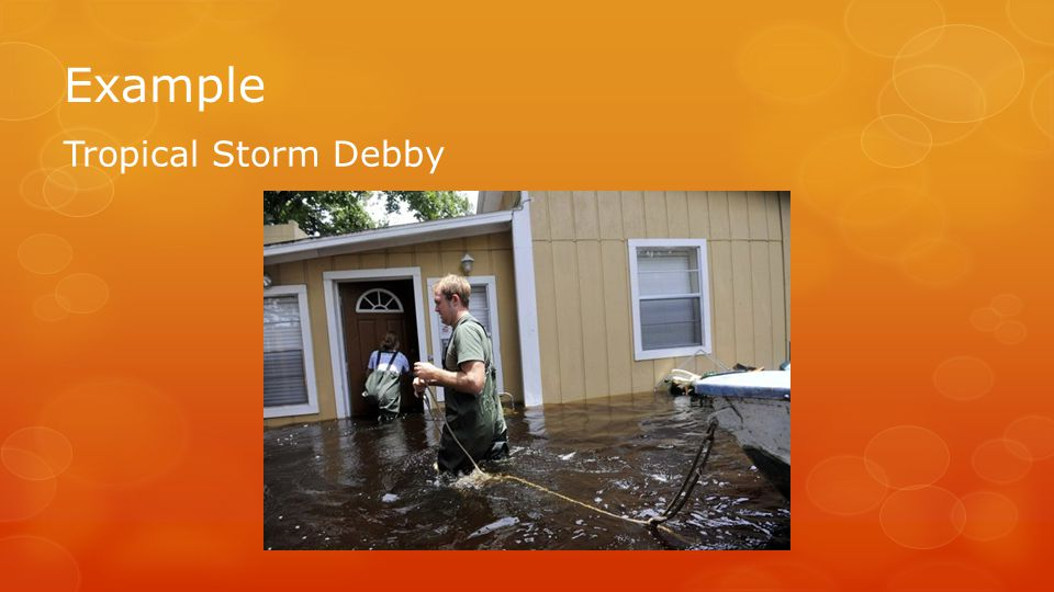 Example Tropical Storm Debby