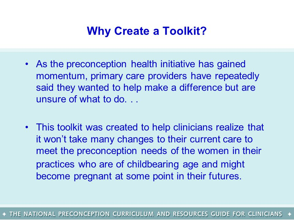 Why Create a Toolkit.