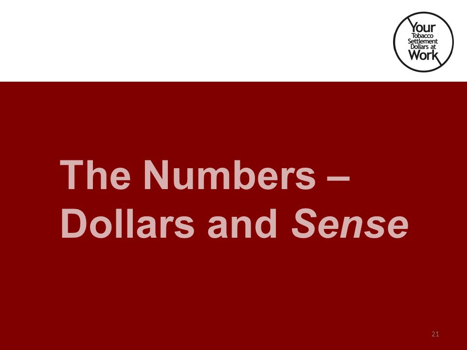 The Numbers – Dollars and Sense 21