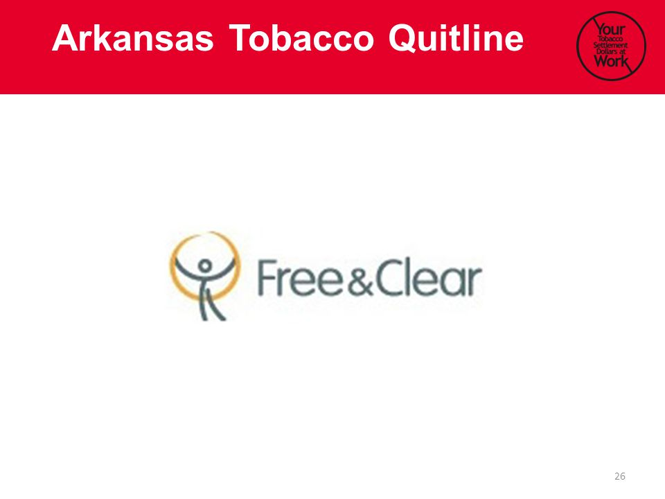 26 Arkansas Tobacco Quitline