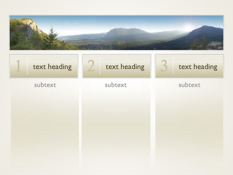 subtext text heading 1 2 3