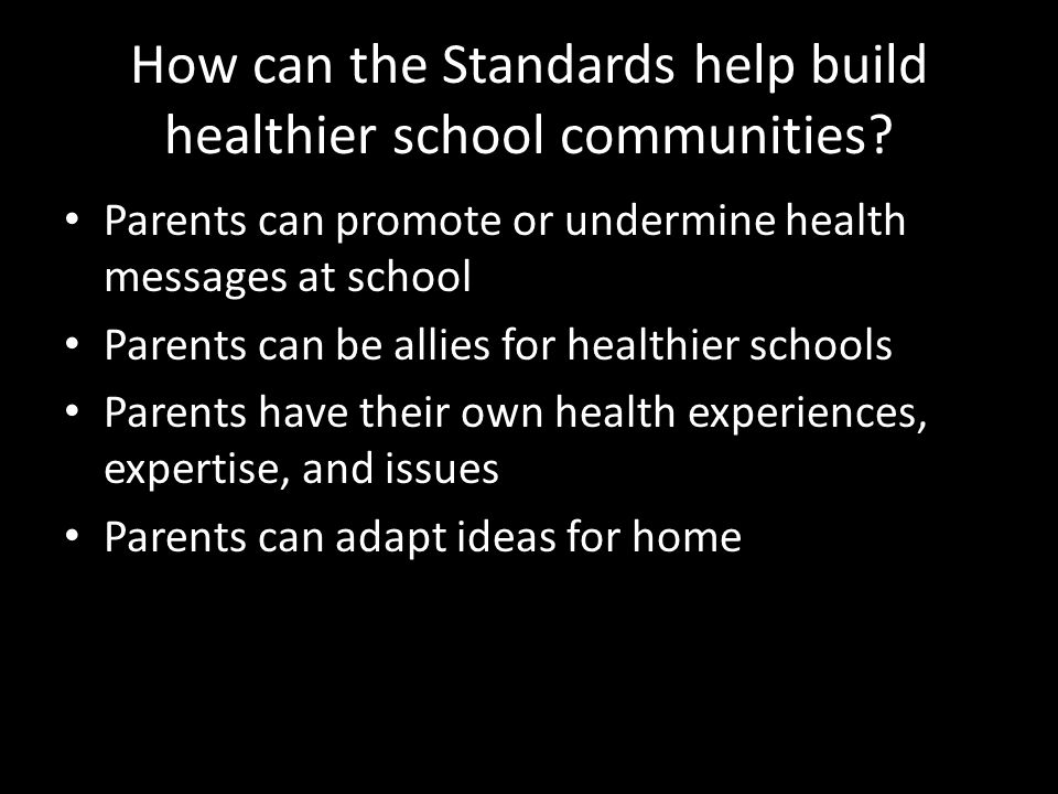 Steps to Building Family-School Partnerships around Healthy Schools Put the plan into action and monitor your progress throughout the school year.