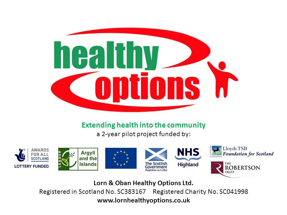 Lorn & Oban Healthy Options Ltd. Registered in Scotland No.