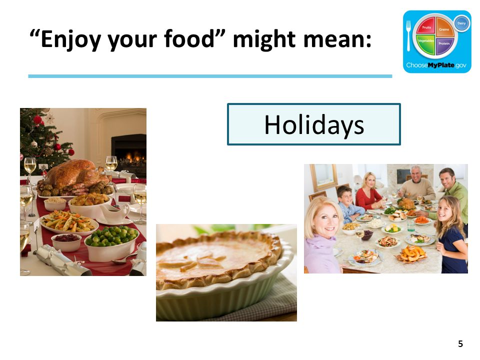 """""""Enjoy your food"""" might mean: 5 Holidays"""