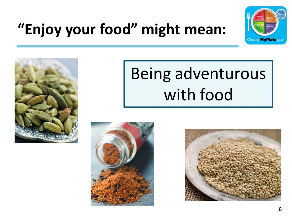 """""""Enjoy your food"""" might mean: 6 Being adventurous with food"""