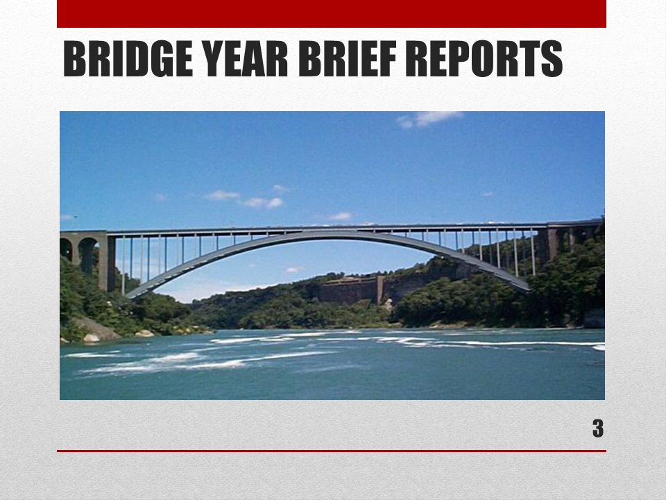 BRIDGE YEAR BRIEF REPORTS 3