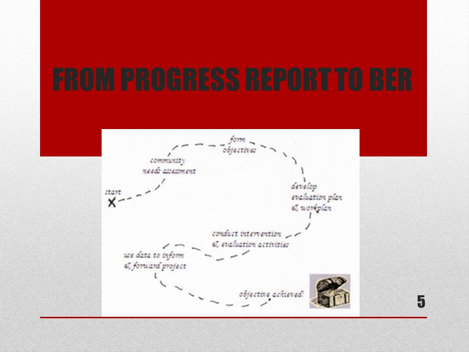 FROM PROGRESS REPORT TO BER 5