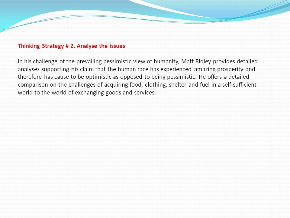 Thinking Strategy # 2.