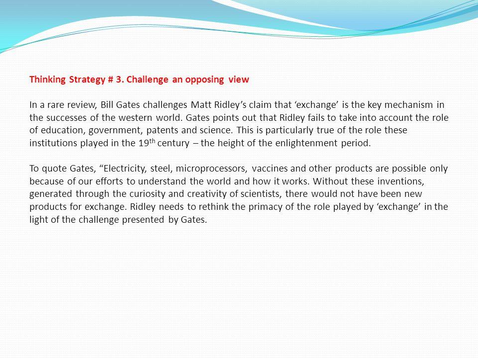 Thinking Strategy # 3.