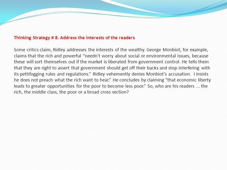 Thinking Strategy # 8.