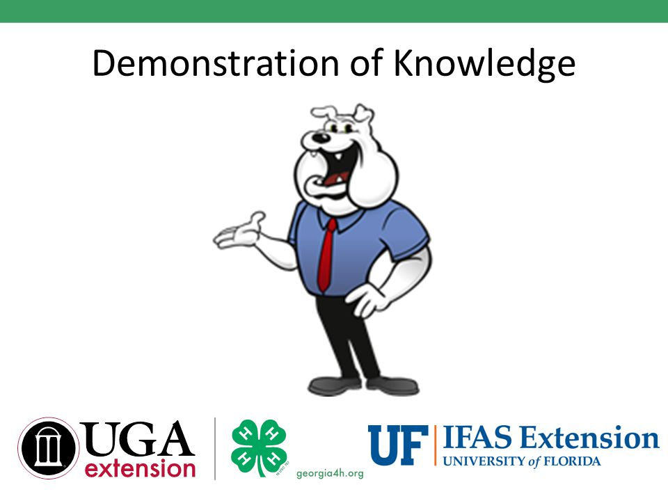 Demonstration of Knowledge