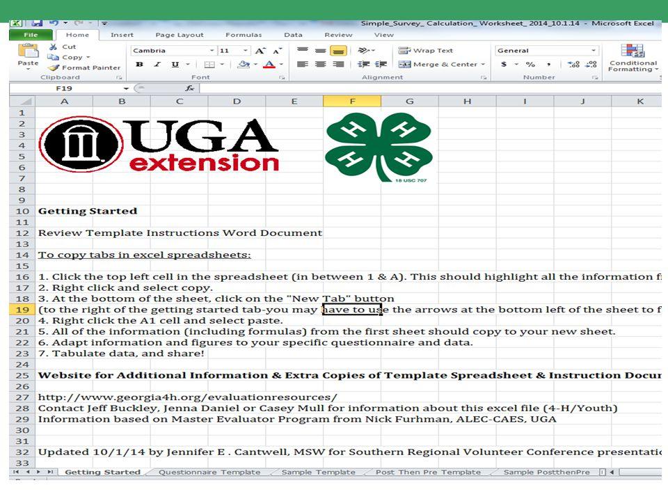 Screen shot tab spreadsheet