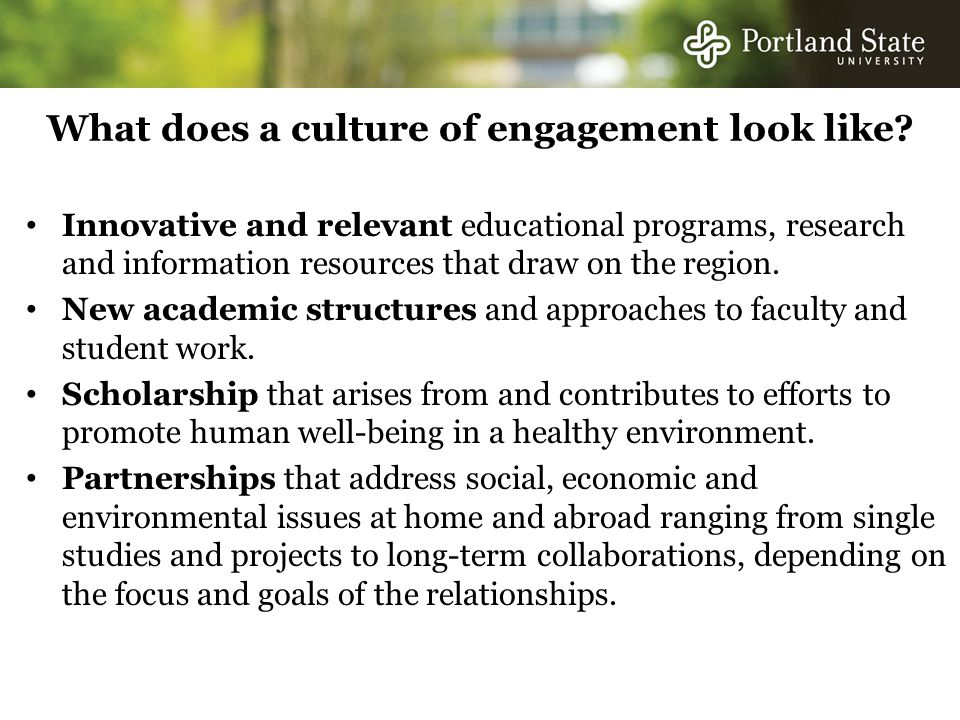 What does a culture of engagement look like.