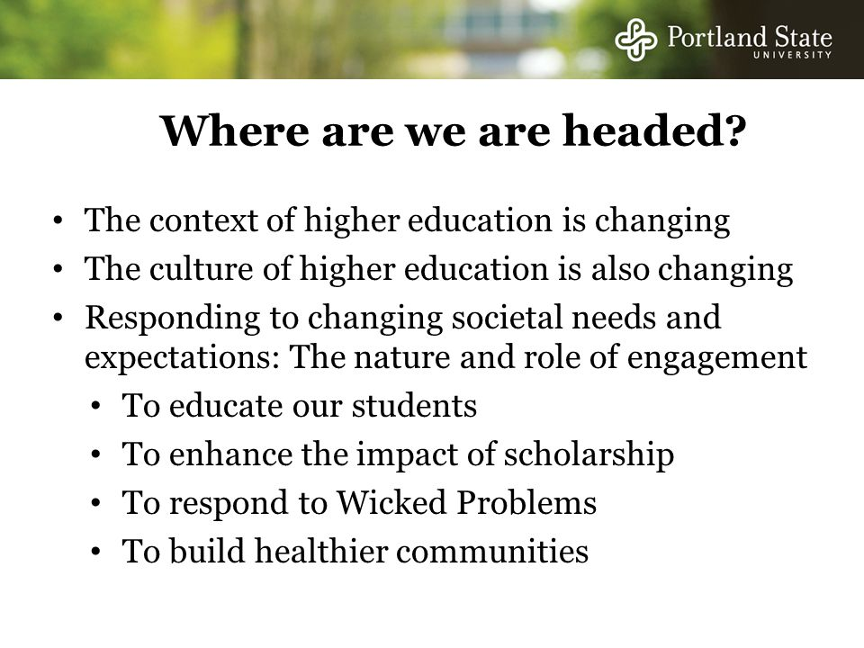 Where are we are headed.