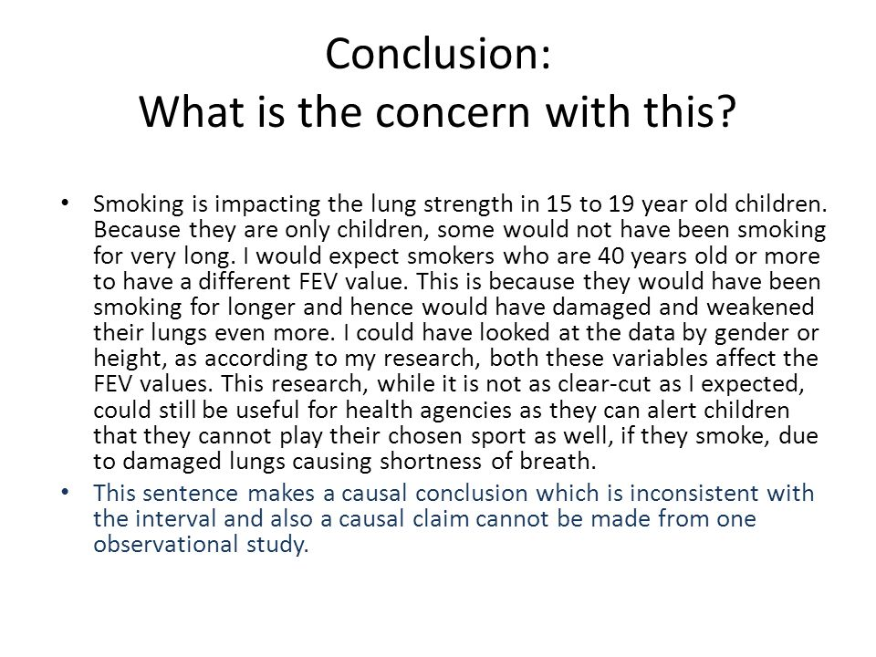 Smoking is impacting the lung strength in 15 to 19 year old children.