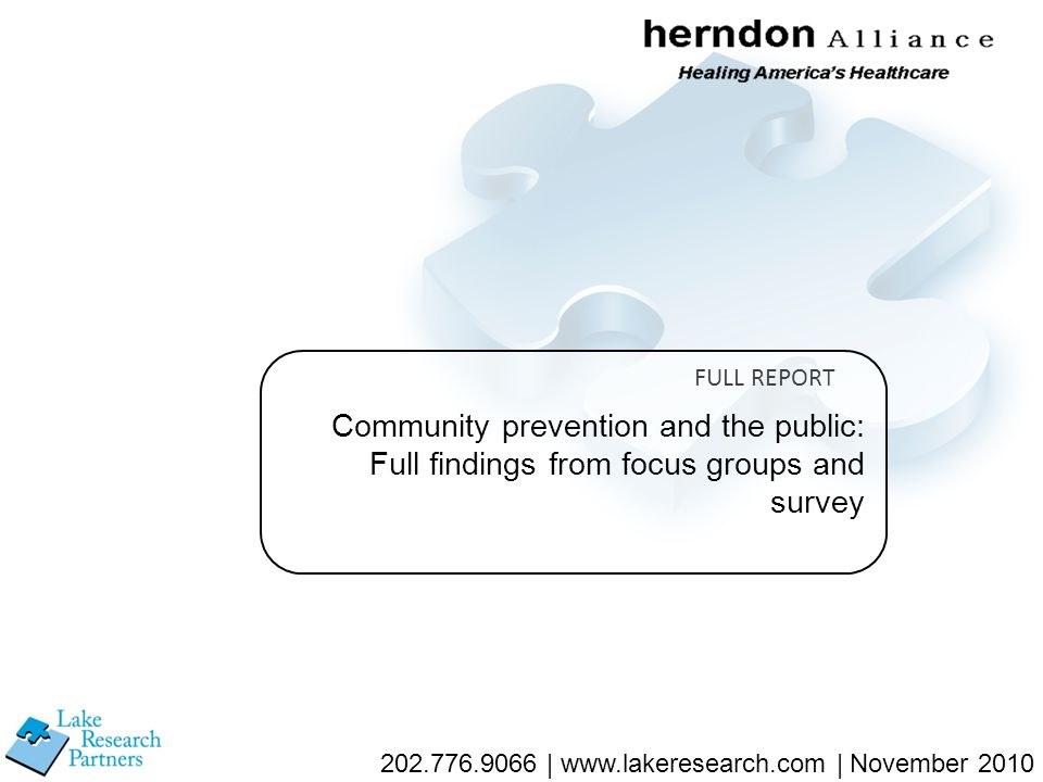 52 Now, here are a series of statements people have made in support of community prevention.