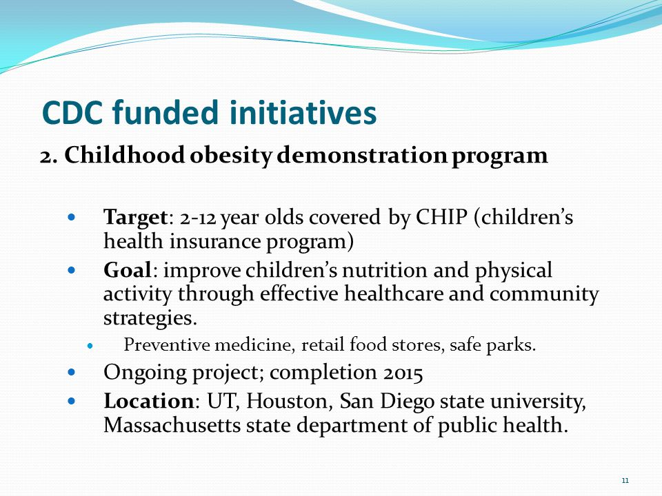 CDC funded initiatives 2.
