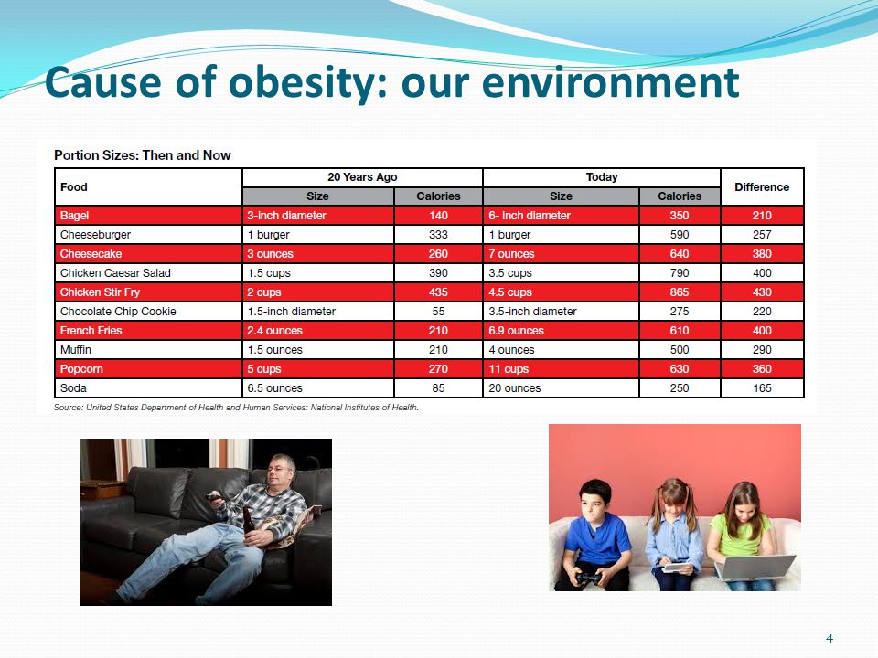 Cause of obesity: our environment 4