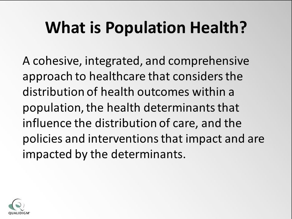 What is Population Health.