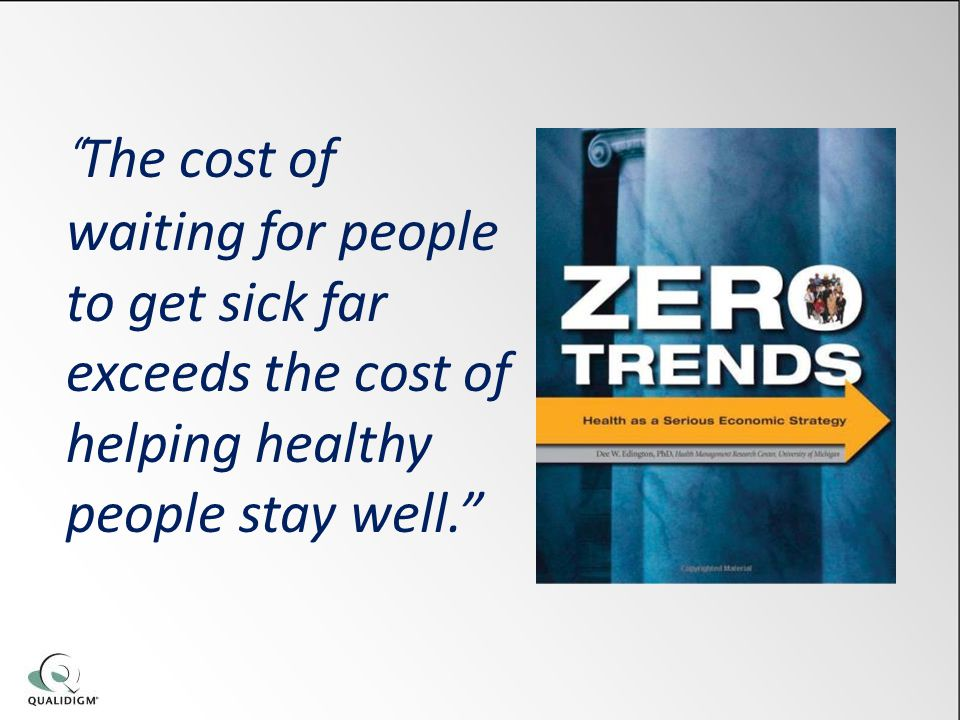 """"""" The cost of waiting for people to get sick far exceeds the cost of helping healthy people stay well."""""""