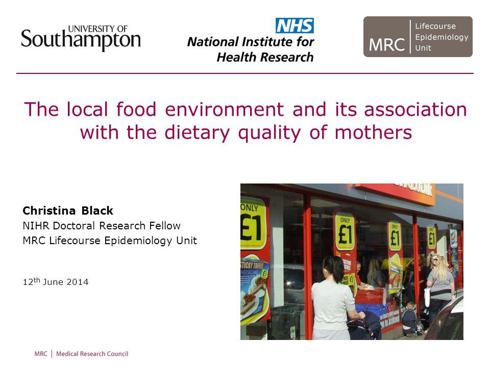 Black et al, Health & Place 2014 Caspi et al, Health & Place 2012