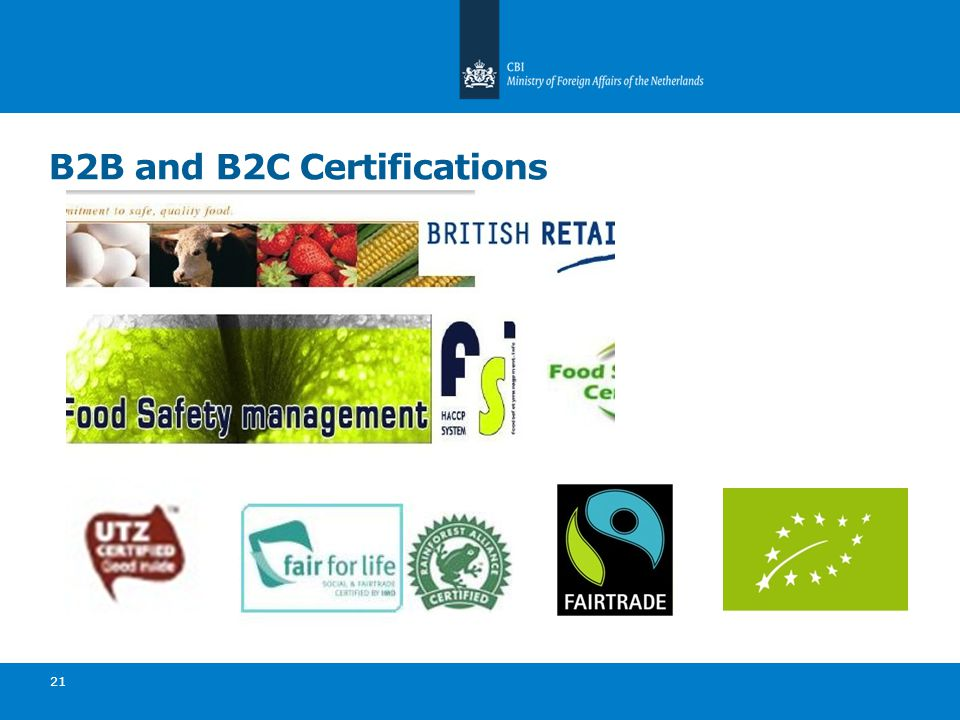 B2B and B2C Certifications 21