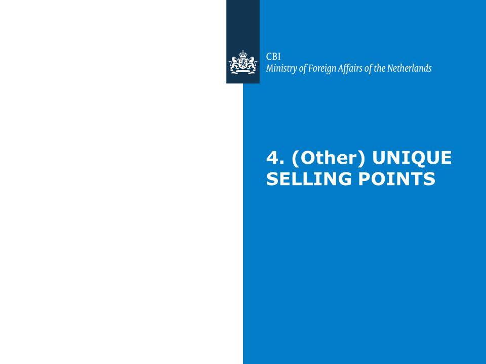 4. (Other) UNIQUE SELLING POINTS