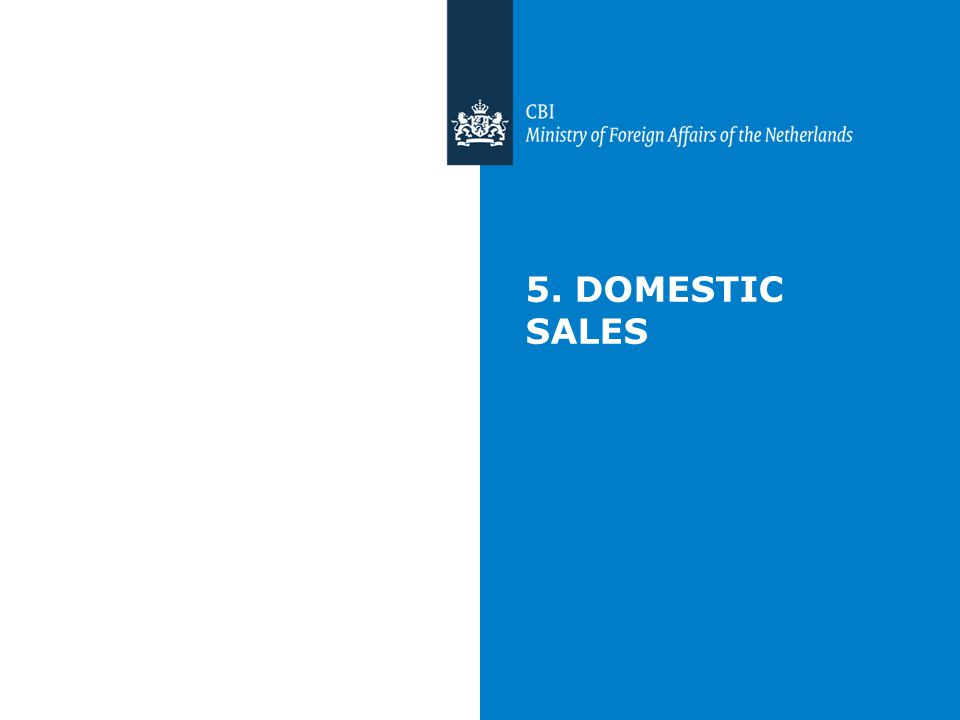 5. DOMESTIC SALES