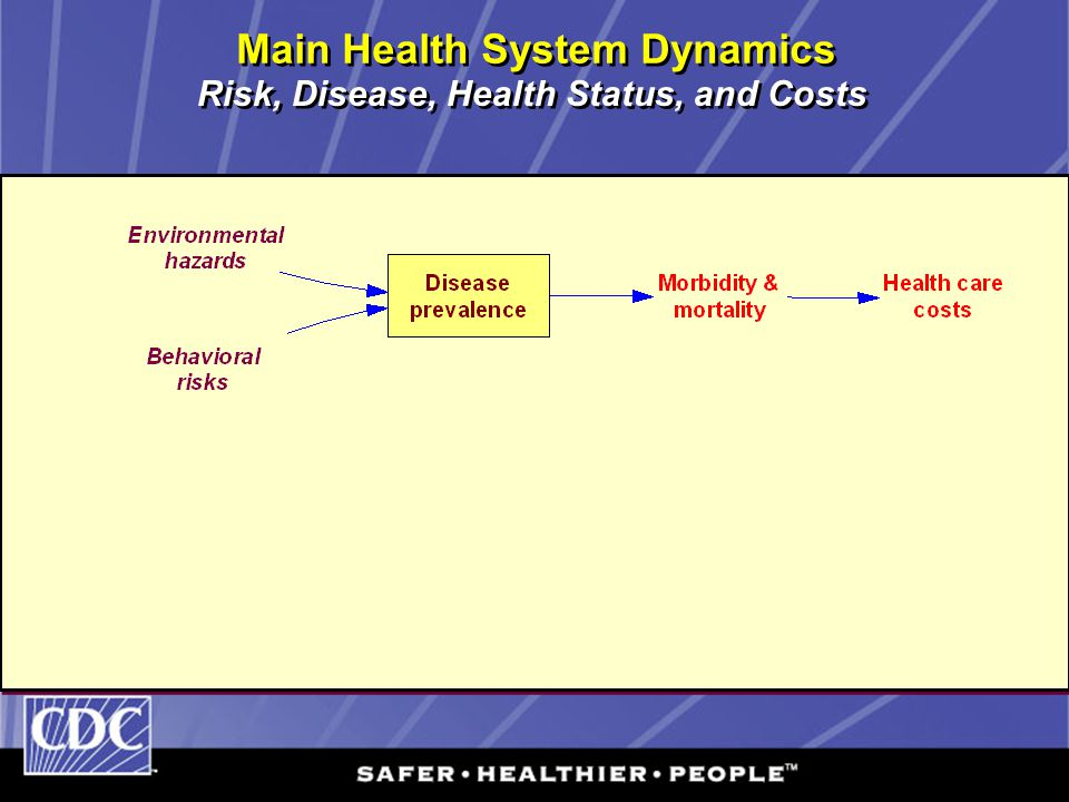 Main Health System Dynamics Risk, Disease, Health Status, and Costs