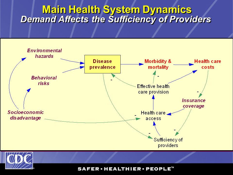 Main Health System Dynamics Demand Affects the Sufficiency of Providers