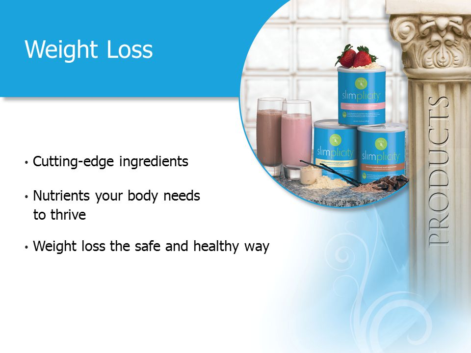 Weight Loss Cutting-edge ingredients Nutrients your body needs to thrive Weight loss the safe and healthy way