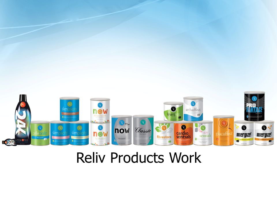 Reliv Products Work