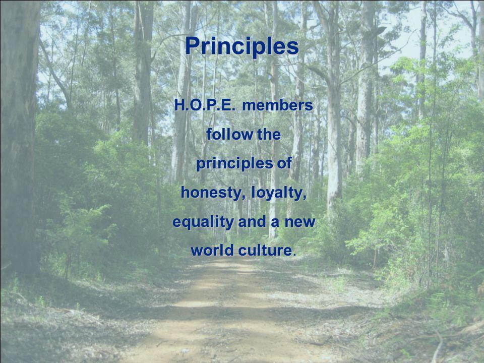 Principles H.O.P.E.
