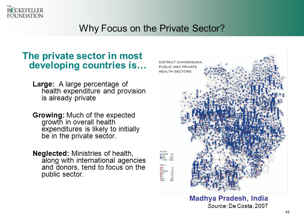 49 Why Focus on the Private Sector.
