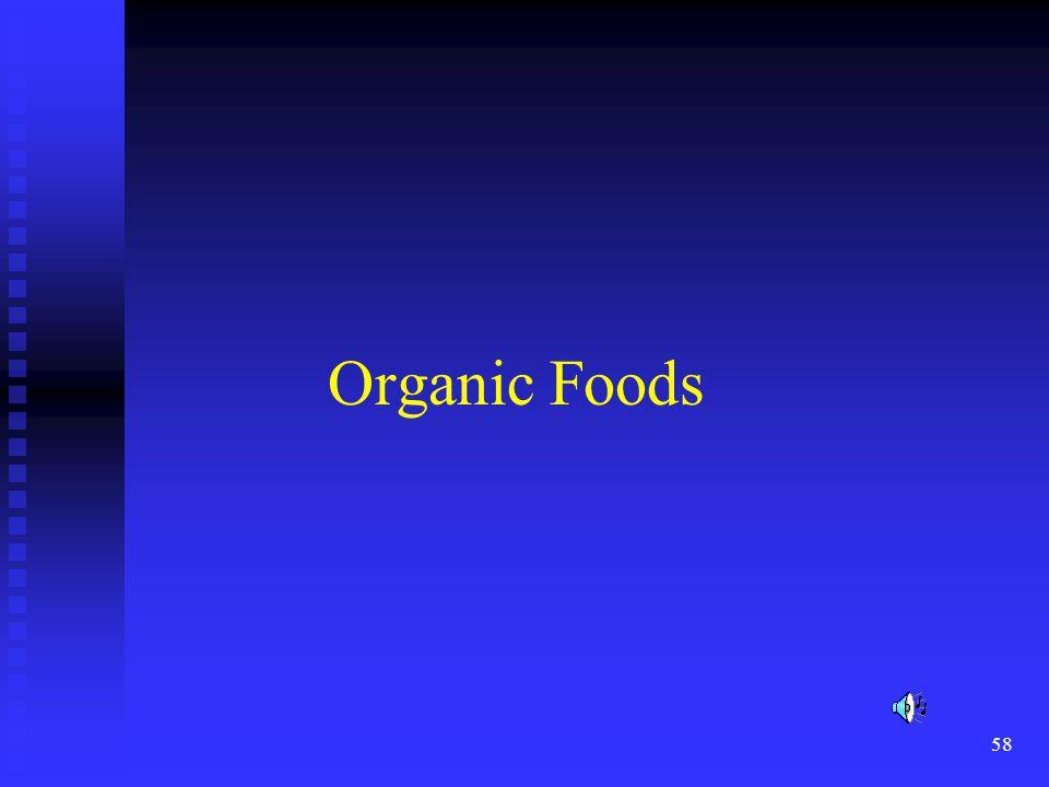 58 Organic Foods