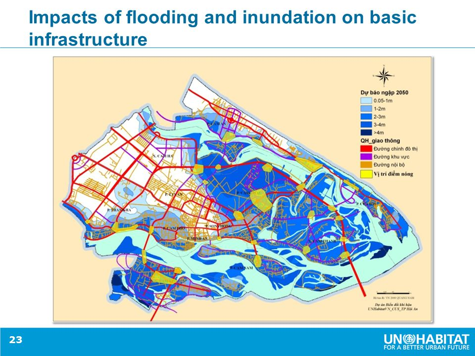 Impacts of flooding and inundation on basic infrastructure 23
