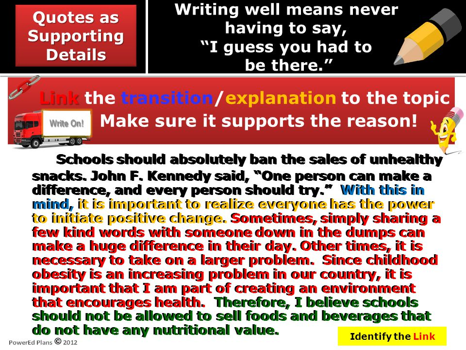 """Schools should absolutely ban the sales of unhealthy snacks. John F. Kennedy said, """"One person can make a difference, and every person should try."""" Wi"""
