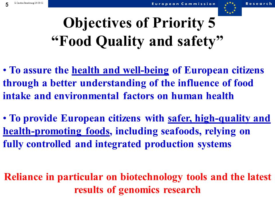 6 G.Cardon/Strasbourg/26-09-02 Re-addressing the classical approach from farm to fork Production systems: Agriculture Fisheries Aquaculture Processing Safe, high-quality foods Health and well-being of consumers Food intake Environmental factors From Fork to Farm From Farm to Fork    Consumer protection is the main driver for developing new and safer food and feed production chains