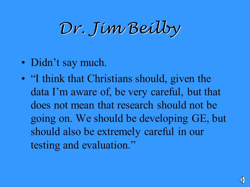 Dr. Jim Beilby Bethel College Theology Professor
