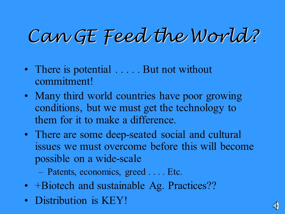 Can GE Feed the World.