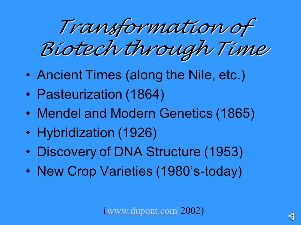 What is Genetic Engineering. The use of biological entities as a tool.