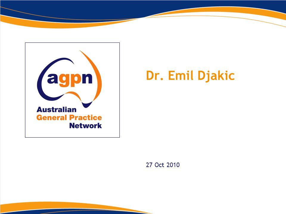 Dr. Emil Djakic 27 Oct 2010