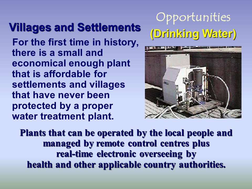 For every area of the world in need of safe water - we offer replenishment of aquifers (via wells) & reservoirs, using exclusive novel rain catchments