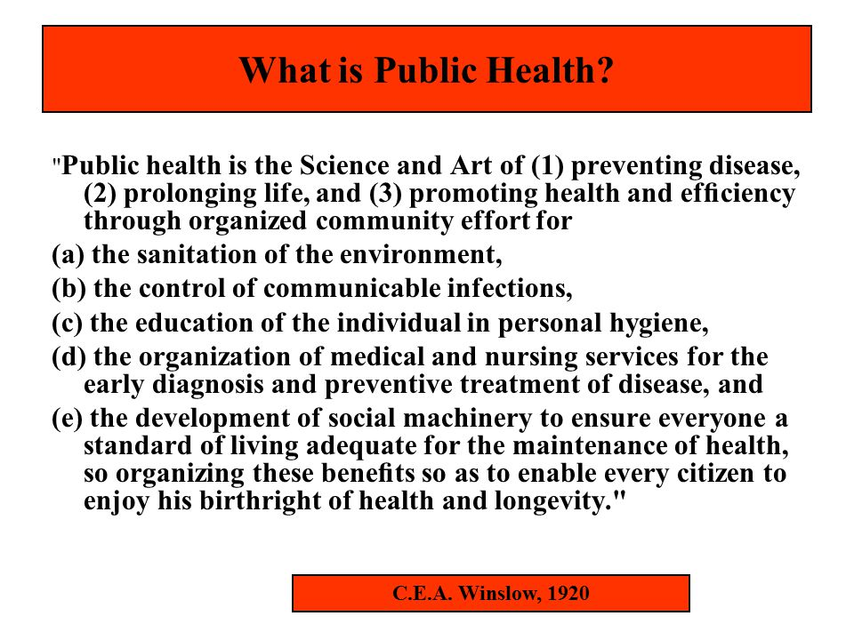 What is a Public Health System.