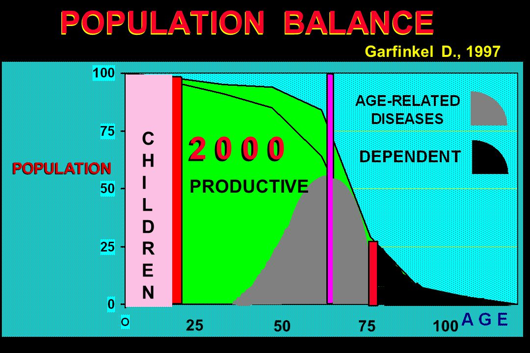 POPULATION BALANCE 7550 25 100 2 0 0 0 POPULATION Garfinkel D., 1997 PRODUCTIVE CHILDRENCHILDREN